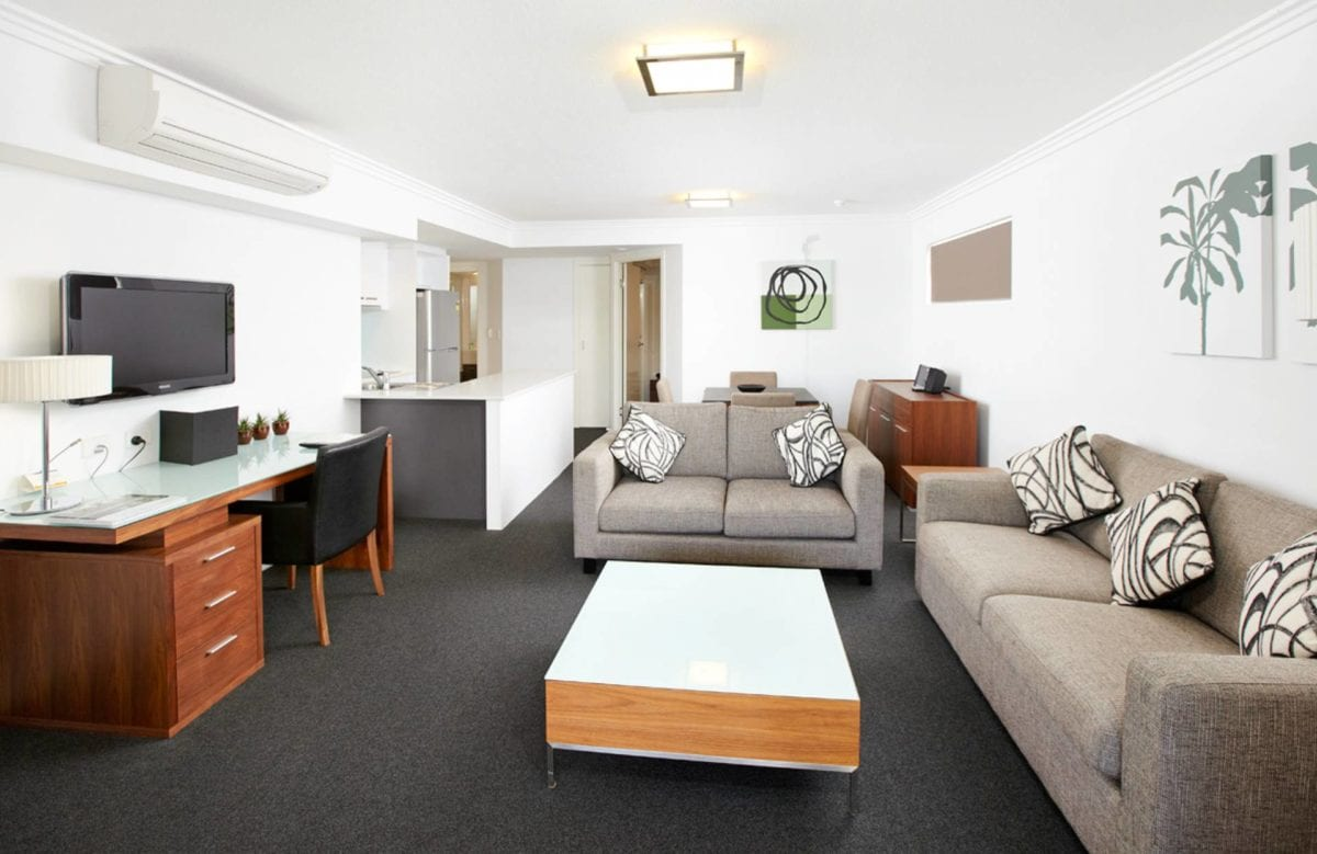 Hotel Chino Woolloongabba Brisbane One Bedroom Apt Lounge Area