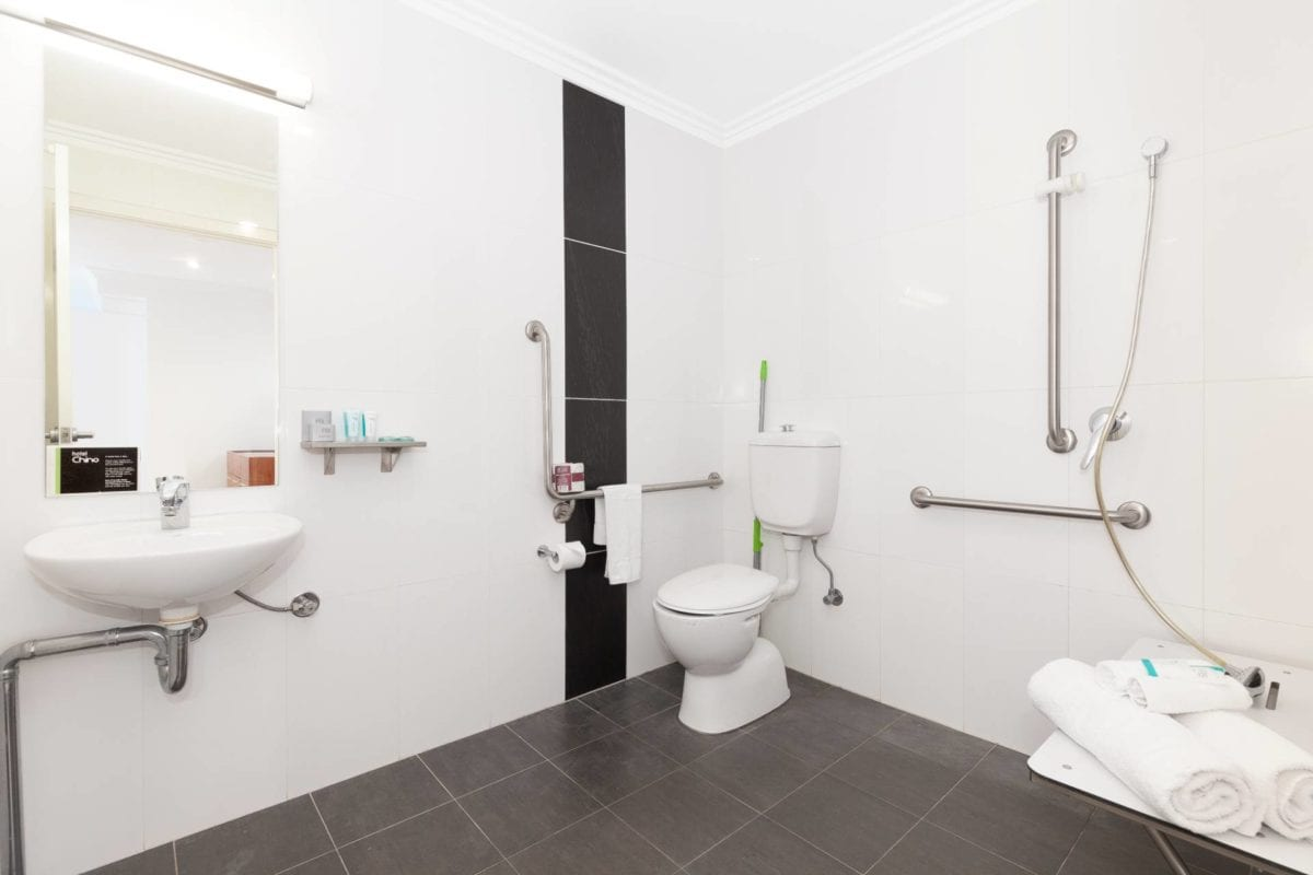 Hotel Chino Woolloongabba Brisbane Disabled Bathroom